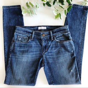 Loft Relaxed Skinny Jeans Distressed Med Wash 24